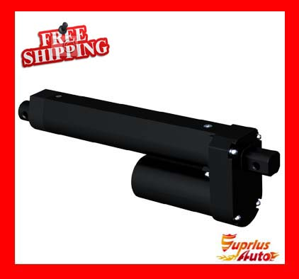 2017 New Products 12/24/36/48 V DC 6 / 150mm Travel, 3500N / 770LBS / 350KGS Black Linear Actuator Free Shipping