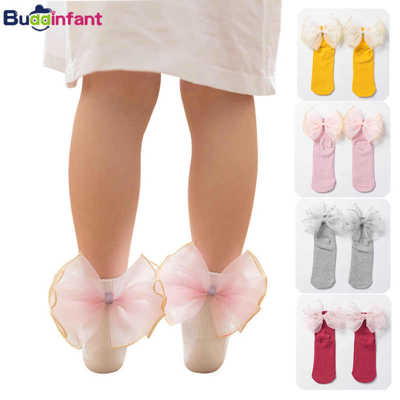 Baby girl BOW SOCKS ribbed ankle
