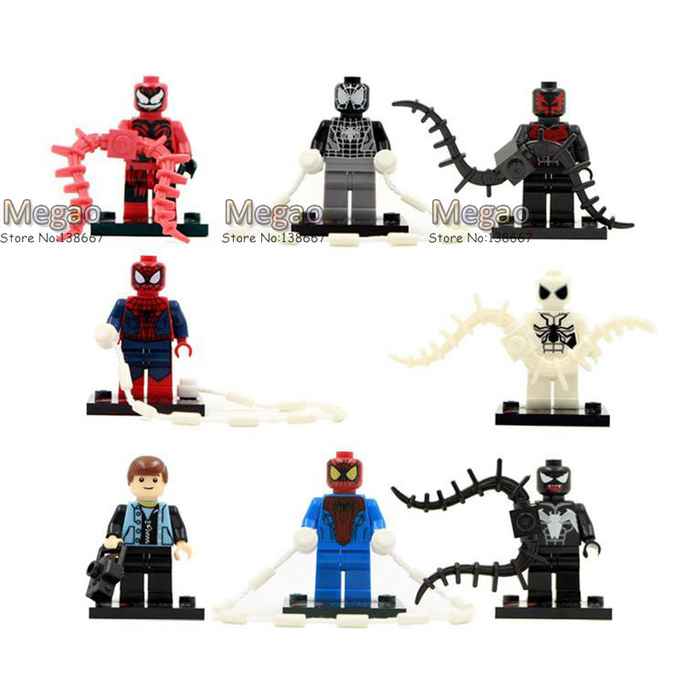 Beautiful Building Blocks 2015 New Coming Blocks 8pcs/lot Shen Yuan Sy188 Super Hero Spider Man Baby Toy Children Gift Blocks