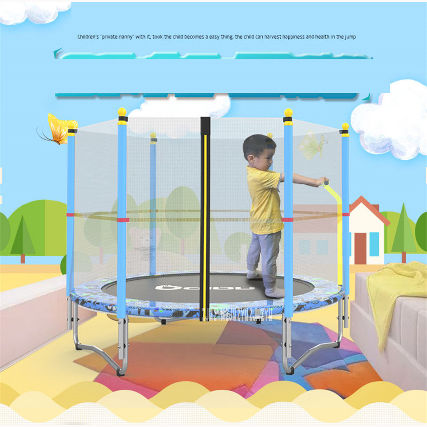 """בית ילדים מקורה תינוק מקפץ מיטה ילדים למבוגרים עם רשתות צעצועי קפיצות מיטת מקסימום עומס 100 kg PP, סגסוגת חומר טרמפולינות 60"""""""