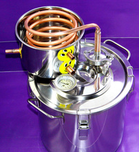 DIY Home 3 Gal / 10 Litres  Alcohol Beer Wine Whisky Distiller Moonshine Ethanol Copper Still Stainless Boiler & Thumper Keg