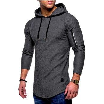 2019 Summer Autumn Mens Long Sleeve T-Shirt Casual Street Slim Tops Fashion Men