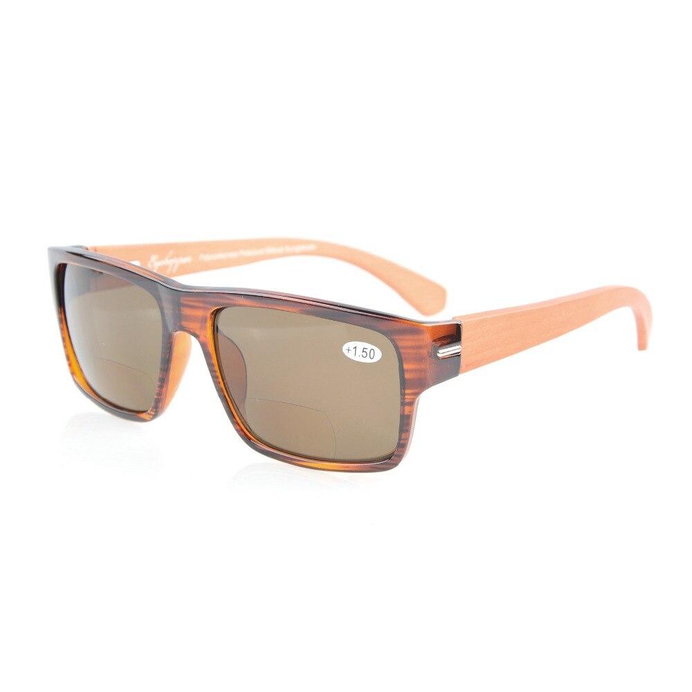 6726ea0300bf33 S014PGSG Eyekepper Printemps Charnières Bras En Bois polycarbonate Polarisé Bifocales  lunettes de Soleil Sunreaders + 1.50 + 2.00 + 2.50 dans Lunettes de ...