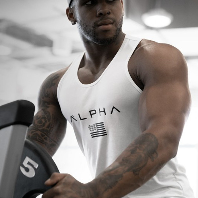 Men Bodybuilding Cotton   Tank     top   2018 Summer New Gyms Fitness Sleeveless shirt Sling Vest Male Undershirt Crossfit   Tops   Clothing