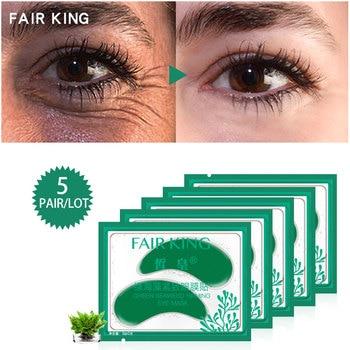 5 زوج / الوحدة الأخضر الأعشاب ثبات قناع العين بقع العين للعيون أقنعة الكريستال الأخضر مكافحة الظلام دائرة جفن تصحيح جديد أشدها حرارة 1