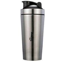 700 мл 304 нержавеющая сталь протеиновый порошок шейкер blender бутылка воды фитнес домашнего офиса dinkware инструмент