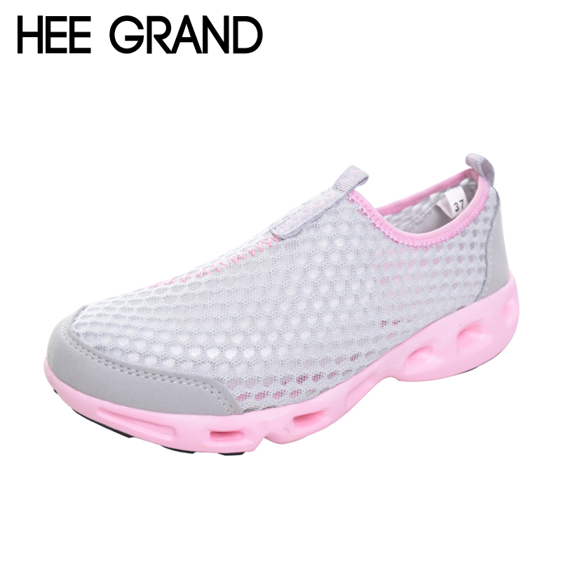 HEE GRAND Breathable Casual Woman Shoes Air Mesh Candy Color Woman Flats Loafers Comfortable Slip-on Shoes Size 35-40 XWC1181 hee grand breathable casual woman shoes air mesh candy color woman flats loafers comfortable slip on shoes size 35 40 xwc1181