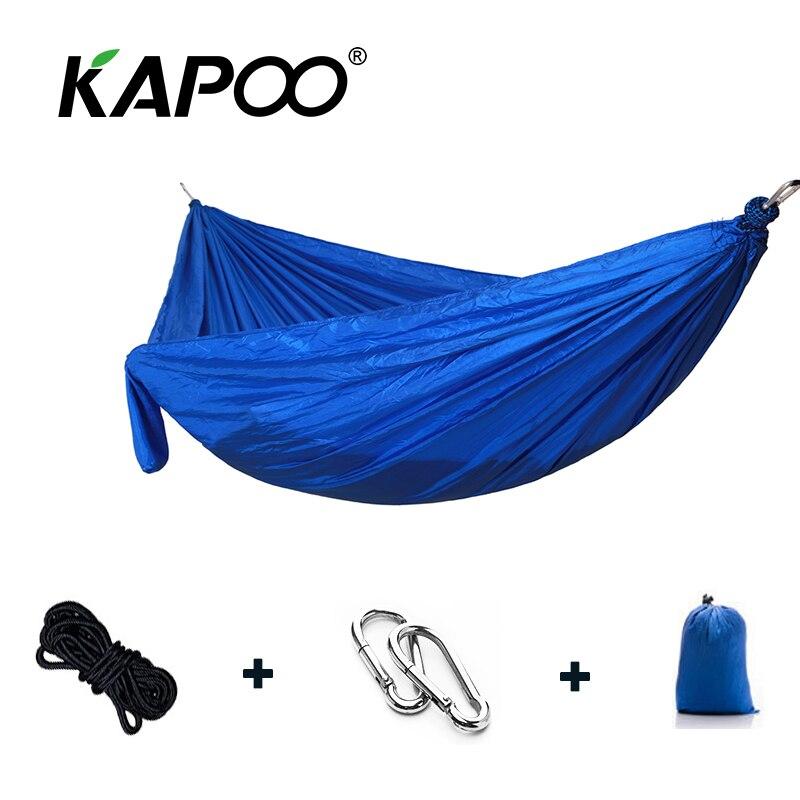 Portable arachute Hammock Outdoor Furniture Camping Hammock Picnic Mat Single Double Hammock Double Bed Soft LeisureBed