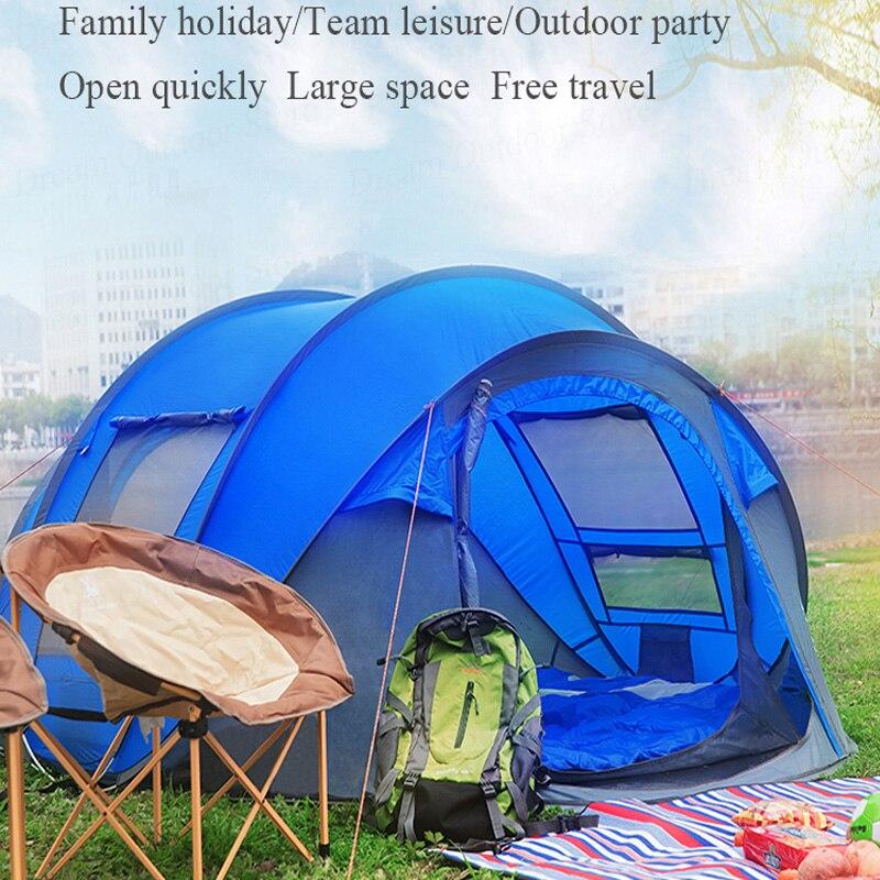 Tente pop up 3-4 personnes tente de plage double couche Anti UV imperméable ultra-léger tente tourisme randonnée famille tentes camping en plein air