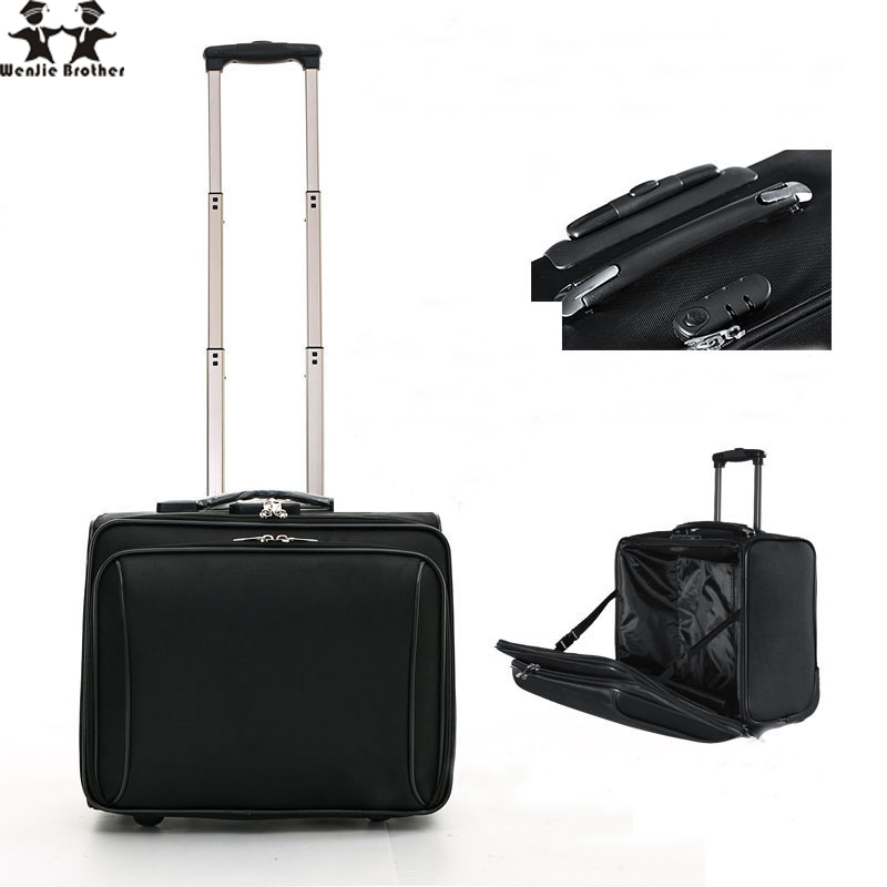 wenjie brother New Arrival hot  Oxford Cloth Business Trolley Luggage Travel Suitcase Boarding  For Menwenjie brother New Arrival hot  Oxford Cloth Business Trolley Luggage Travel Suitcase Boarding  For Men