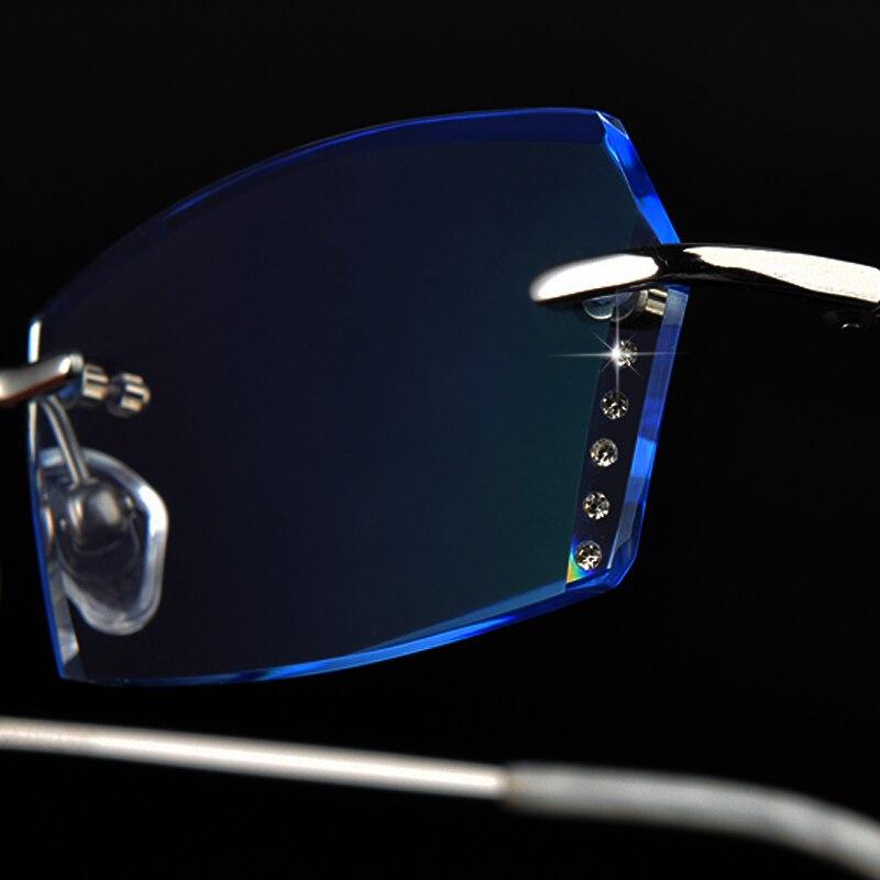 Weibliche Ultraleicht Gläser 85 Gläser Randlose Brille Diamant Film Frau Fertig Farbe Trimmen IY0q60w