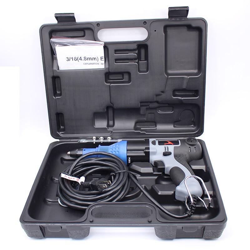 Topkwaliteit 220V elektriciteitskracht klinkhamer Gun klinkgereedschap gemaakt in Taiwan 2.4-4.8mm klinkhamer