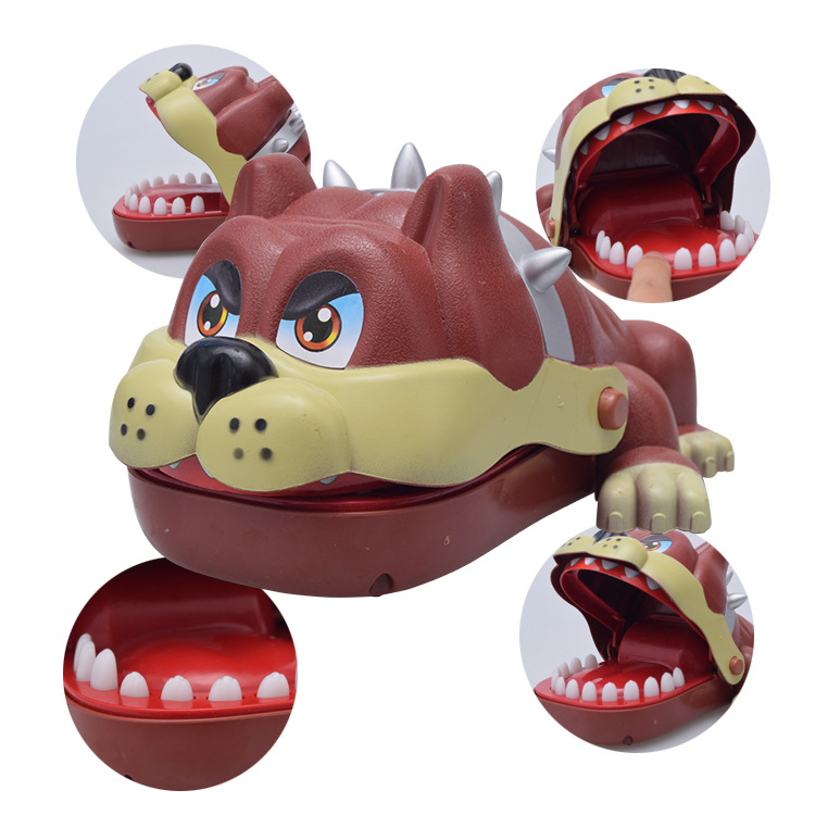 Mini Portable Cute Cartoon Animal Hippo Dog Mouth Bite Fingers Tricky Biting Game Children Adult Prank Toy
