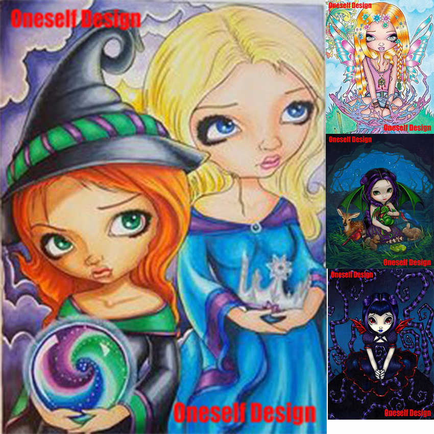 5d алмазная картина полный набор мультфильм девушка 5d алмазная Вышивка Полный Круглый/квадратный милый девушка 5d алмазная вышивка распродажа стикер на стену