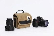 Płócienna torba na aparat etui na telefon ze zdjęciem dla Canon EOS M50 M200 M100 M10 M6 Mark II SX540 SX530 SX420 SX410 Nikon B700 B600 B500 L840 L830