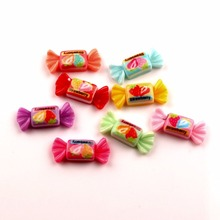 50Pcs Mixed Resin Candy Sweet Decoration Crafts Beads Flatback Cabochon Kawaii Embellishments For Scrapbooking DIY Accessories