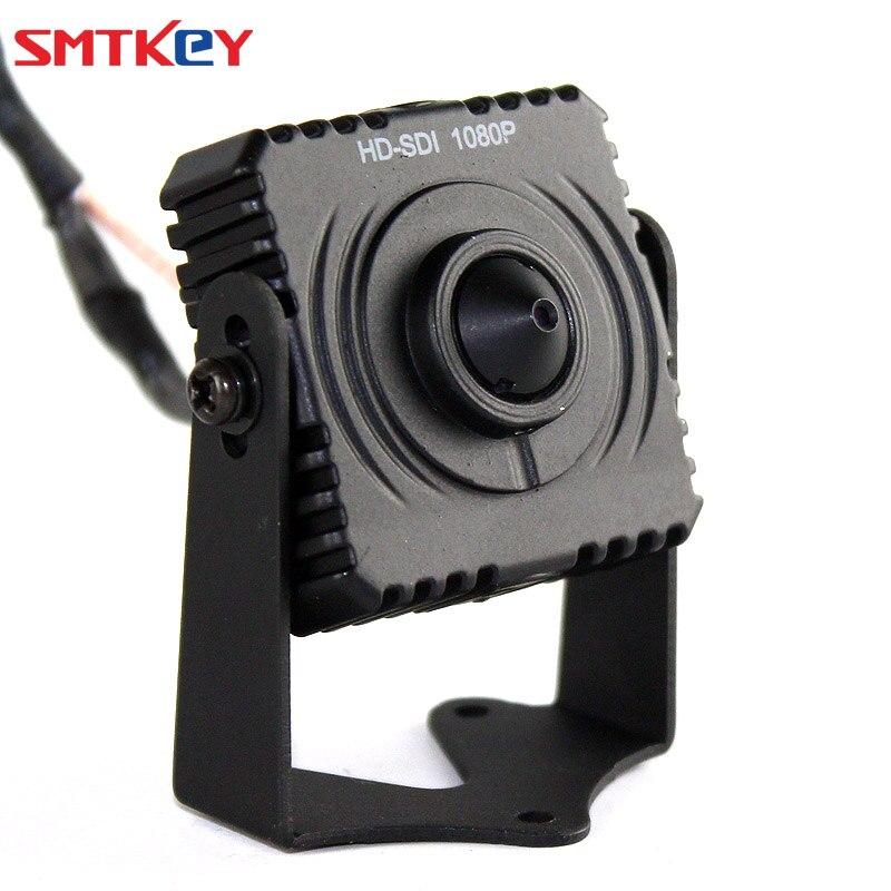 SMTKEY 1080P 2.1 Mega Pixel Panasonic CMOS Sensor Pinhole Lens Mini HD SDI cctv Camera