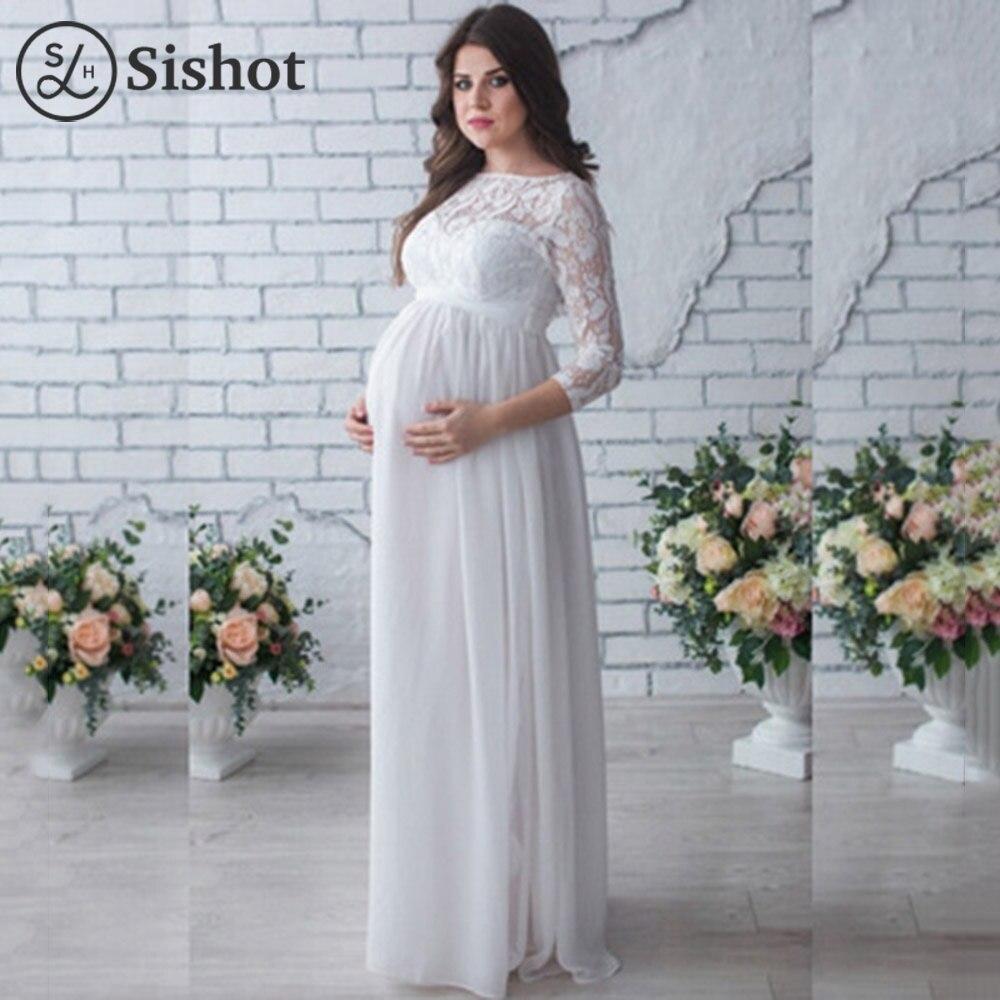 Elegant Women Dresses For Pregnant Slash Neck Lady Mermaid Party ...