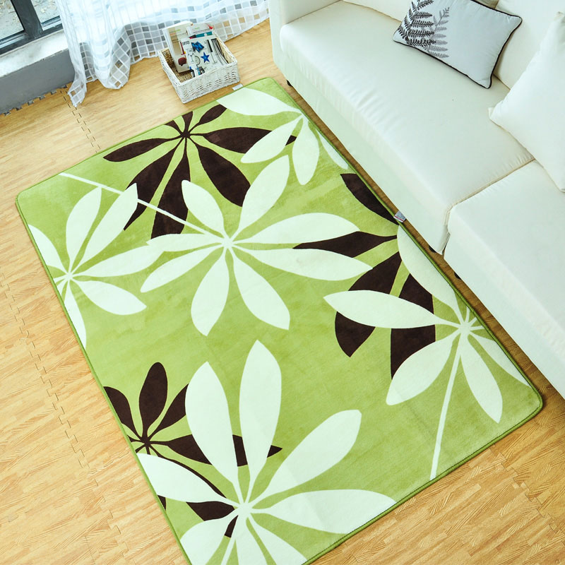 130X190CM Green Leaves Carpets For Living Room Bedroom Soft Coral Velvet  Rugs And Carpets Coffee TableCompare Prices on Green Area Rugs  Online Shopping Buy Low Price  . Green Living Room Rug. Home Design Ideas