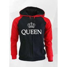 Couple Look Loose Jackets Tracksuit Jumper Woman Man Hoodies Sweatshirt King Queen Crown Printed Hooded Pullover Jackets Tops