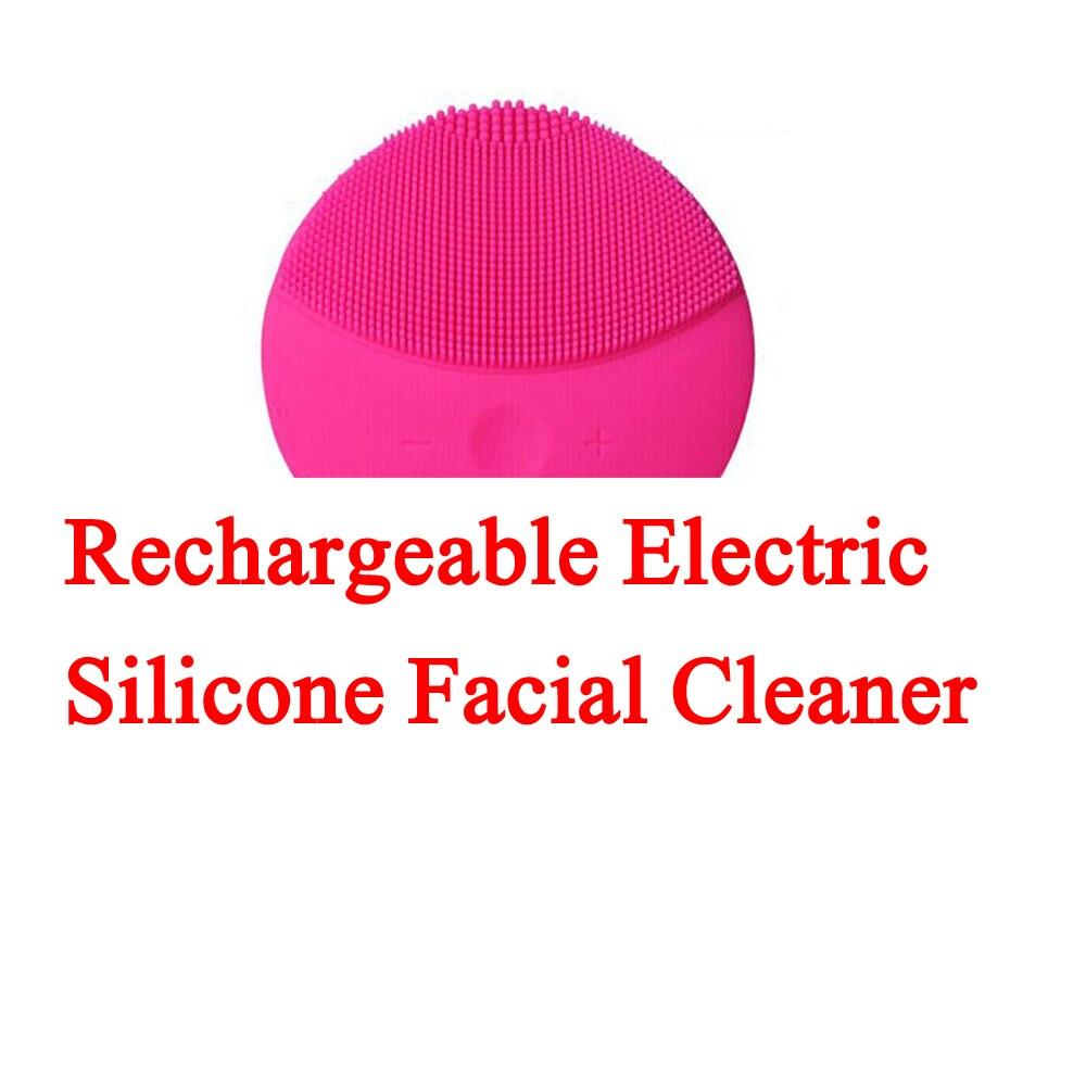 Eléctrica recargable Dispositivo de limpieza facial impermeable silicona Cara limpiador blackhead acné eliminación ducha limpiador facial