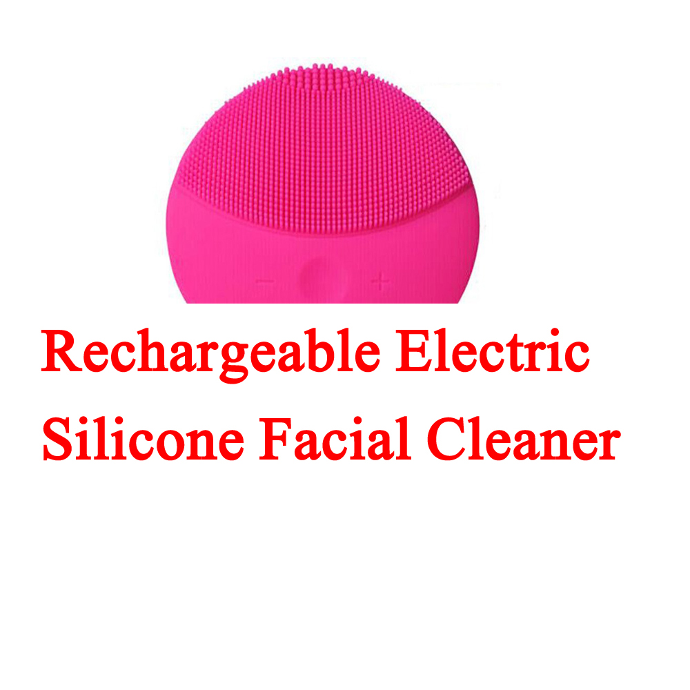 Rechargeable Electric Facial Cleansing Device Waterproof Silicone Face Cleanser Blackhead Acne Removal Shower Facial Cleaner ultrasonic electric facial cleansing brush waterproof silicone face massager vibration skin remove blackhead pore cleanser