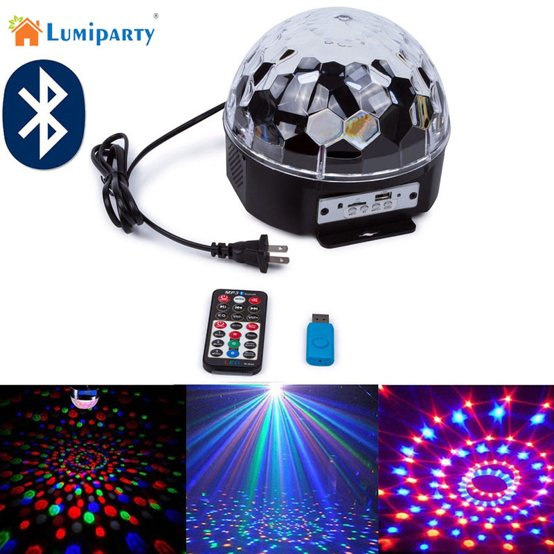 Lumiparty Crystal Bluetooth Led Magic Ball Light Stage Lighting Disco Laser Light Led Stage Lamp Sound Control Laser Projector