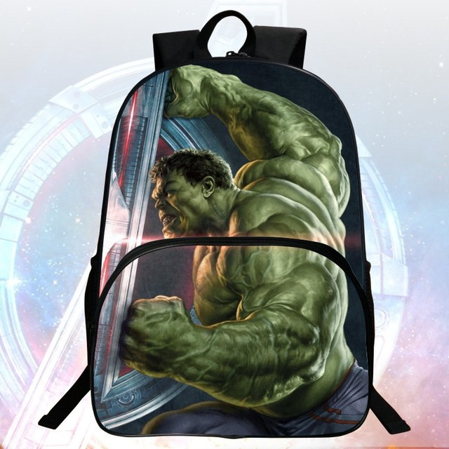 New Style 16-inch Printing Cool Hero Hulk Kids School Bags Avengers Students Backpack Children Mochila Bag Boys School Backpacks