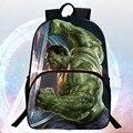 Nuevo estilo de $ number pulgadas de impresión fresco hero avengers hulk niños mochilas escolares estudiantes niños mochila mochila niños del bolso de escuela mochilas