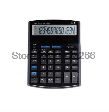 1 Piece New Original HP OfficeCalc 200 14-Digit Calculator Office Calculator