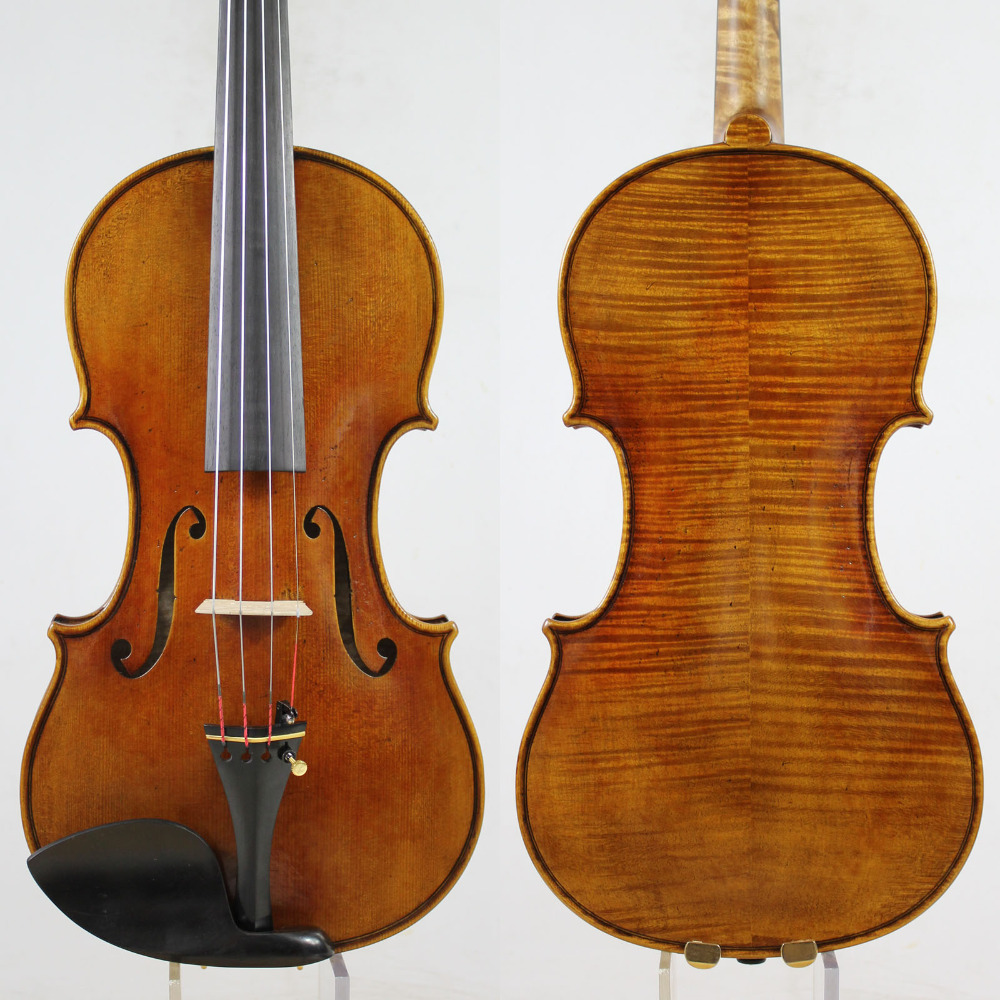 Guarnieri del Gesu 1742 Lord Wilton 4 4 Violin violino Copy All European Wood oil varnish