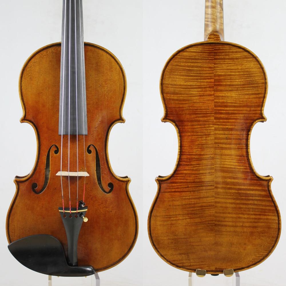 Guarnieri del Gesu 1742 Lord Wilton 4 4 Violin violino Copy All European Wood oil varnish
