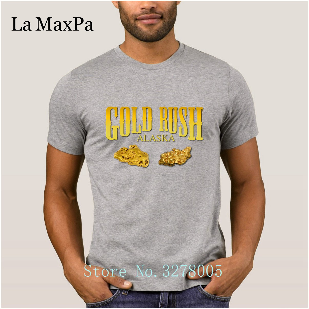 Custom Personalized Gift Crazy Gold Rush T Shirts Men Summer Style T