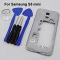 Средняя Панель Рамка Корпус Для Samsung Galaxy S5 Mini Вернуться Корпус Рамка + крышка Камера + Динамик + инструменты, бесплатная Доставка