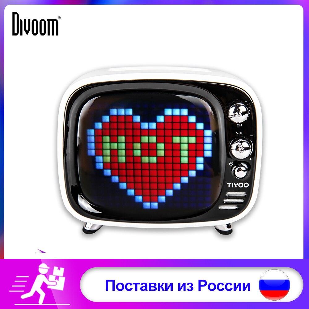 Divoom Pixel Tivoo Art sans fil Bluetooth 5.0 haut-parleur Portable horloge LED réveil intelligent avec App disponible pour IOS Android