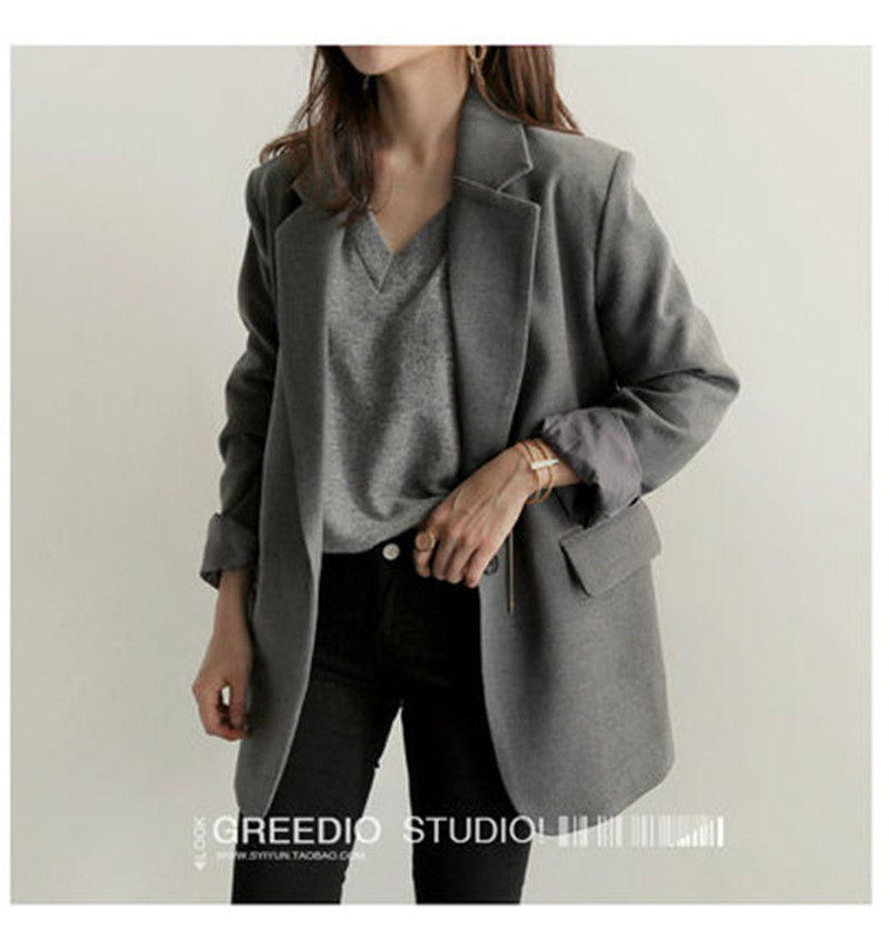 high quality Newest 2019 Designer Blazer Women's Coats Long Sleeve Single-breasted Blazers Suit Jacket Outerwear X437