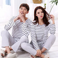 Big Size 3XL 4XL Lovers sleepwear 2016 spring autumn long-sleeve cartoon lovers home clothing couples matching pajamas sets