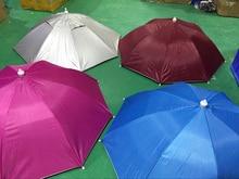 Outdoor Large Camouflage Cycling Fishing Hiking Beach Camping Head Umbrella Women Men Kids 8Steel Rib Sun Rain Umbrellas Hat Cap