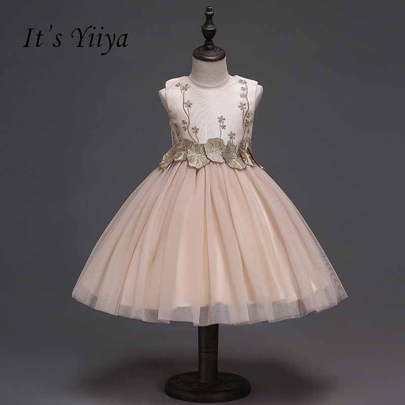 It's yiiya Zipper   Flower     Girl     Dress   Many Color Kid Child Cloth Pattern   Flowers   Ball Gown   Dress   For Party Wedding   Girl     Dress   S224
