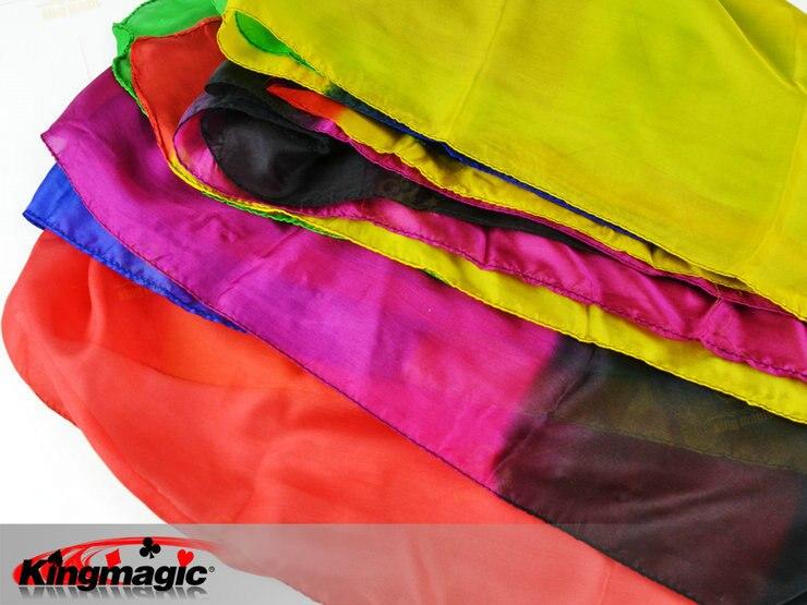 22 couches couleur soie foulard magique soie changement multicolore tours de magie pour scène gros plan accessoires magiques cadeau pour enfant