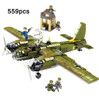 Army Series Ju 88 Bomber Fight Aircraft Compatible legoinglys military ww2 german soldiers figures Building Blocks Toys Gifts