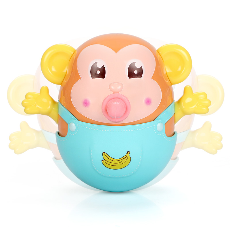 Educational Baby Tumbler Toy Infant Kids Adorable Cartoon Animal Model Swing Rattle With Music Baby Sleeping Bed Bell For 0-36m Toys & Hobbies Baby & Toddler Toys