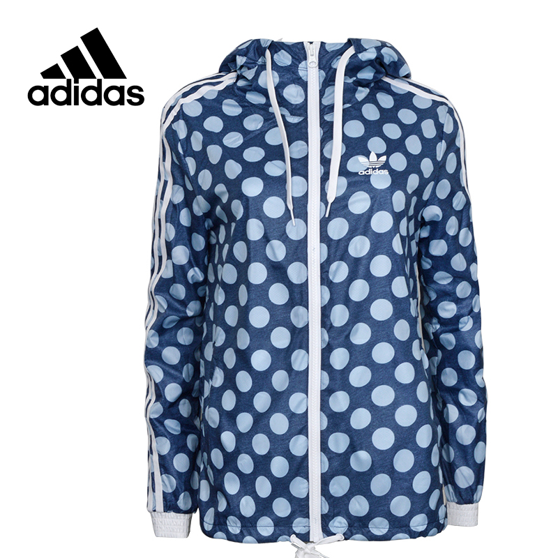 все цены на Adidas Original New Arrival Official Women's Jacket Windproof Hooded Long Training Sportswear BJ8377