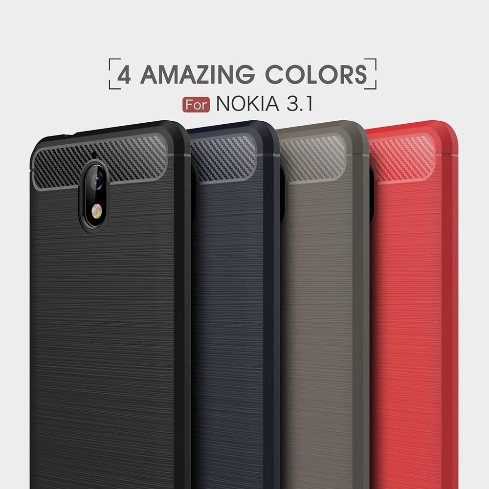 Carbon Fiber Cases For Nokia 3.1 Case Silicone Cover For Nokia 7 Plus X6 5 6 3 Case For Nokia 6.1 2018 Case For Nokia 5.1 2.1 2