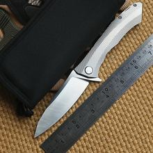 Dicoll Scorpion Small Titanium Alloy D2 Steel Folding Pocket Knife Hiking Camping Fishing Tool Small Rescue Tools