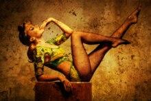 Home decoration Kylie Minogue brunettes pinup pantyhose feet blondes Silk Fabric Poster Print QR48