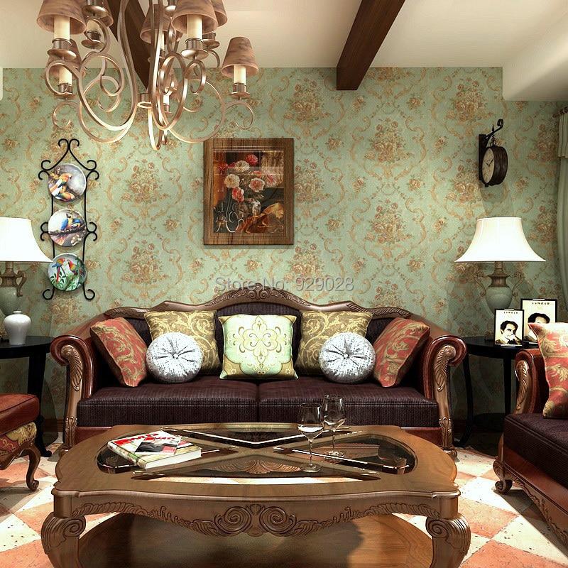 Rustic Vintage Living Room online shop american rustic vintage flower nostalgia wallpaper for