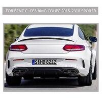 W205 C63 Carbon Spoiler for Benz AMG Coupe 2 Door Wing Lip Sticker amg Style 2 Door 2015 2018