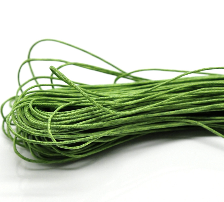 Wax Rope Jewelry Rope Green 1mm, 15 M New