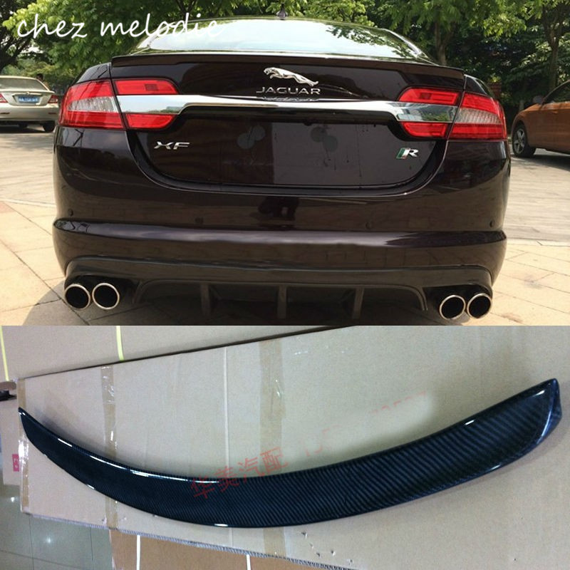 High Quality! CARBON sports Car Rear Trunk Spoiler Wing For JAGUAR XF 2013/2014/2015 exhaust tips on jaguar xe